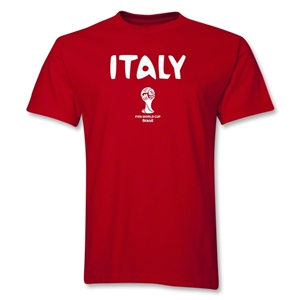 Italy 2014 FIFA World Cup Brazil(TM) Men's Basic Core T-Shirt (Red)