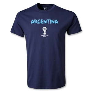 Argentina 2014 FIFA World Cup Brazil(TM) Men's Basic Core T-Shirt (Navy)