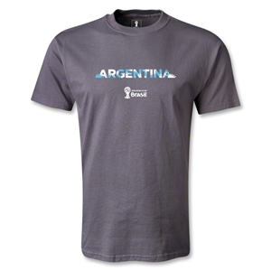 Argentina 2014 FIFA World Cup Brazil(TM) Palm T-Shirt (Dark Gray)