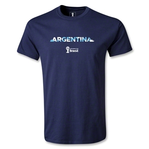 Argentina 2014 FIFA World Cup Brazil(TM) Palm T-Shirt (Navy)