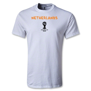 Netherlands 2014 FIFA World Cup Brazil(TM) Men's Basic Core T-Shirt (White)