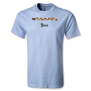 Netherlands 2014 FIFA World Cup Brazil(TM) Palm T-Shirt (Sky Blue)