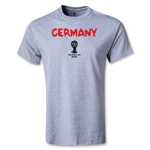 Germany 2014 FIFA World Cup Brazil(TM) Men's Core T-Shirt (Gray)