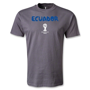 Ecuador 2014 FIFA World Cup Brazil(TM) Core T-Shirt (Dark Gray)