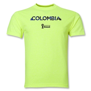 Colombia 2014 FIFA World Cup Brazil(TM) Palm T-Shirt (Neon Green)