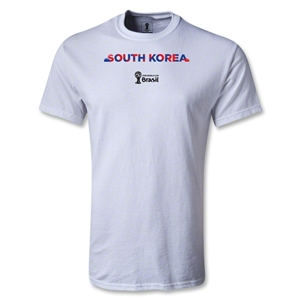 South Korea 2014 FIFA World Cup Brazil(TM) Men's Palm T-Shirt (White)