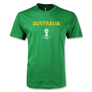 Australia 2014 FIFA World Cup Brazil(TM) Men's Core T-shirt (Green)
