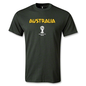 Australia 2014 FIFA World Cup Brazil(TM) Men's Core T-shirt (Dark Green)