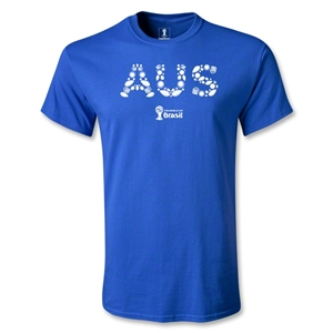 Australia 2014 FIFA World Cup Brazil(TM) Men's Elements T-Shirt (Royal Blue)