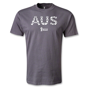 Australia 2014 FIFA World Cup Brazil(TM) Men's Elements T-Shirt (Dark Gray)