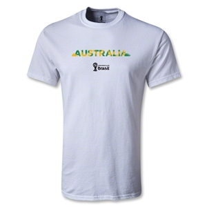 Australia 2014 FIFA World Cup Brazil(TM) Men's Palm T-Shirt (White)