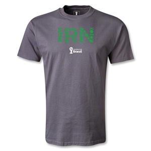 Iran 2014 FIFA World Cup Brazil(TM) Men's Elements T-Shirt (Dark Gray)