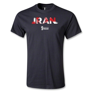 Iran 2014 FIFA World Cup Brazil(TM) Men's Palm T-Shirt (Black)