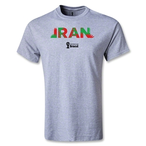 Iran 2014 FIFA World Cup Brazil(TM) Men's Palm T-Shirt (Gray)