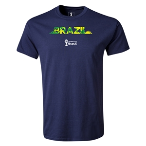 Brazil 2014 FIFA World Cup Brazil(TM) T-Shirt (Navy)
