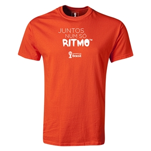 2014 FIFA World Cup Brazil(TM) Portugese All In One Rhythm T-Shirt (Orange)
