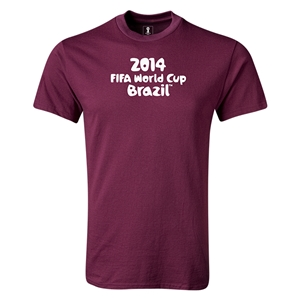 2014 FIFA World Cup Brazil(TM) Logotype T-Shirt (Maroon)