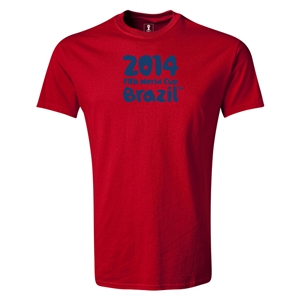 2014 FIFA World Cup Brazil(TM) Logotype T-Shirt (Red)
