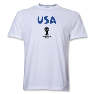 USA 2014 FIFA World Cup Brazil(TM) Men's Basic Core T-Shirt (White)