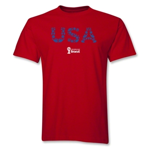 USA 2014 FIFA World Cup Brazil(TM) Elements T-Shirt (Red)