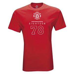 Manchester United Eighteen 78 T-Shirt (Red)