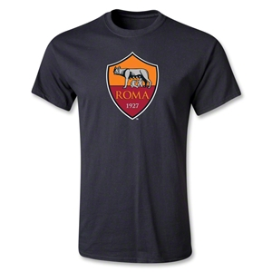 AS Roma Crest T-Shirt (Black)