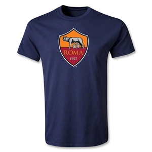 AS Roma Crest T-Shirt (Navy)