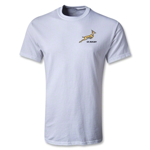 South Africa Springboks Logo SS T-Shirt (White)