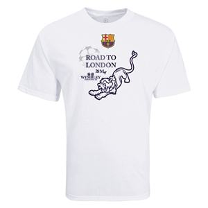 Barcelona Road to London Lion T-Shirt (White)