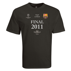 Barcelona 2011 Champions League Final T-Shirt (Black)