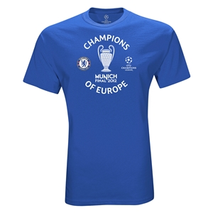 Chelsea 2012 Champions of Europe T-Shirt (Royal)