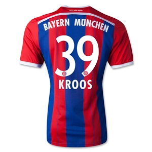 Bayern Munich 14/15 KROOS Authentic Home Soccer Jersey