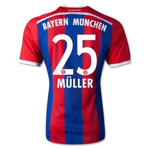 Bayern Munich 14/15 MULLER Authentic Home Soccer Jersey