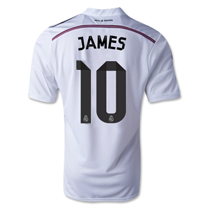 Real Madrid 14/15 JAMES Home Soccer Jersey