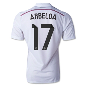 Real Madrid 14/15 ARBELOA Authentic Home Soccer Jersey