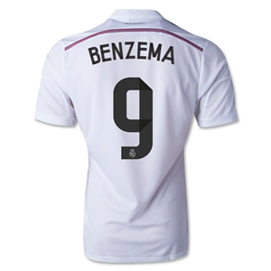 Real Madrid 14/15 BENZEMA Authnetic Home Soccer Jersey