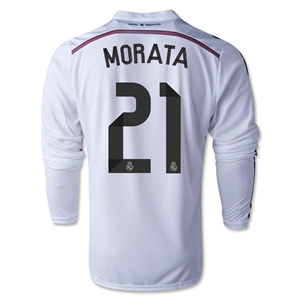 Real Madrid 14/15 MORATA LS Home Soccer Jersey