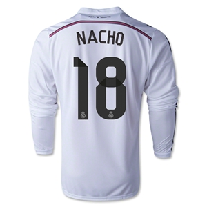 Real Madrid 14/15 NACHO LS Home Soccer Jersey