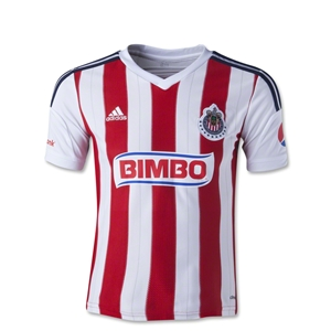 Chivas 14/15 Youth Home Soccer Jersey