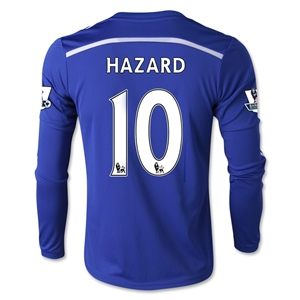 Chelsea 14/15 HAZARD LS Youth Home Soccer Jersey