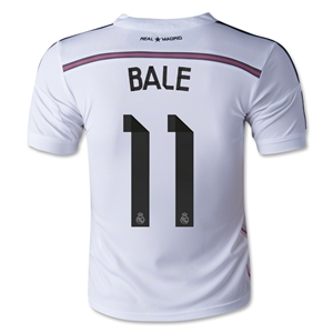 Real Madrid 14/15 BALE Youth Home Soccer Jersey