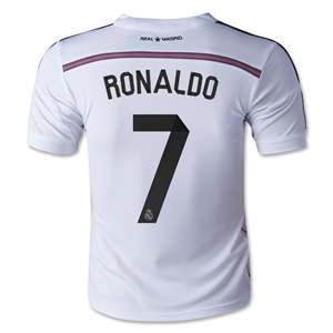 Real Madrid 14/15 RONALDO Youth Home Soccer Jersey