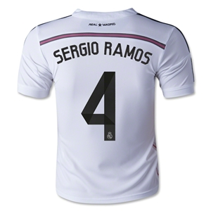 Real Madrid 14/15 SERGIO RAMOS Youth Home Soccer Jersey