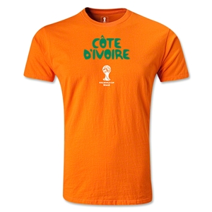 Cote d'Ivoire 2014 FIFA World Cup T-Shirt (Orange)