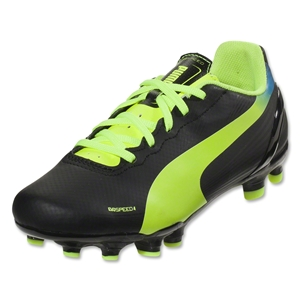 Puma evoSpeed 4.2 FG Youth (Black/Fluo Yellow)