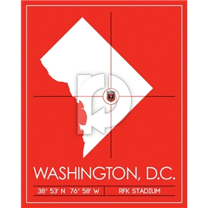 DC United Map Wall Art