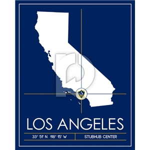 LA Galaxy Map Wall Art