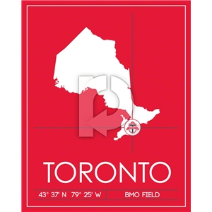Toronto FC Map Wall Art