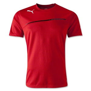 PUMA King Poly T-Shirt (Red/Blk)