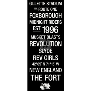 New England Revolution Subway Art with Logo
